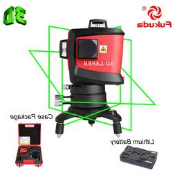 Fukuda 12Lines 3D  Laser Level  self leveling rotary +outdoo