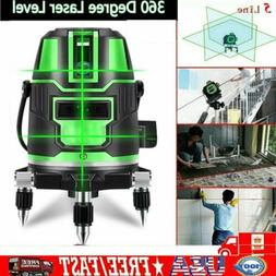 360 °Horizontal Vertical 5 Laser Level Lines Auto Leveling
