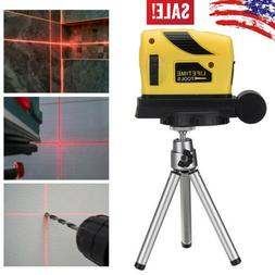 360° Laser Level Point/Line/Cross Horizontal Vertical Adjus