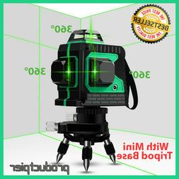 Huepar 3D Green Beam Self-Leveling Laser Level 3x360 Cross L
