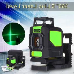 3D Green Laser Level Self Leveling 5 Lines 360° Horizontal&