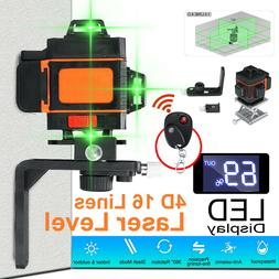 4D 16 Lines Laser Level Green Light Auto Self Leveling 360°