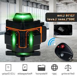 4D 360° 16 Lines Green Laser Level Auto Self Leveling Rotar