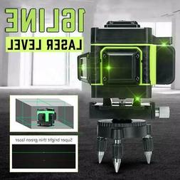 4D Laser Level 16 Lines Green Light Auto Self Leveling 360°