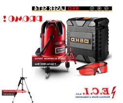 Deko LL5 Level Laser Kit with Tripod 5 Lines 6 Points Red Ho