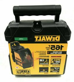 DEWALT DW088K 165 ft. Red Self-Leveling Cross-Line Laser Lev