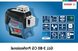 Bosch GLL 3-80 CG Self Level *Green* 30m 3x360° ±0.2mm 4xA