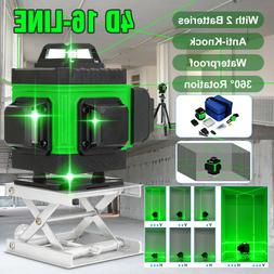 Green Beam Laser Level 3/4D 360° Self Leveling Measure Tool