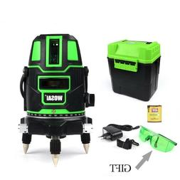 Green Laser Level 5 Lines 6 Points 360 Degrees Rotary Outdoo