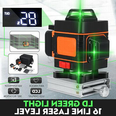 4D Lines Green Auto Self Leveling Cross Measure