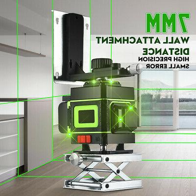12 Lines Laser Level Green Self Leveling 3D Rotary Cross Mea
