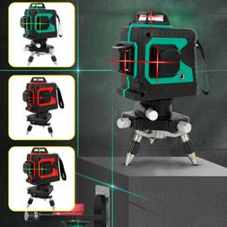 NEW 360° Rotary 3D Laser Level 12 Line Self Leveling Outdoo
