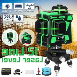 Rotary 12 Lines Laser Level Self Leveling 3D Cross Green Lin