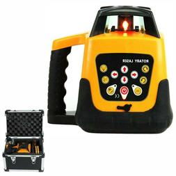 Self-Leveling 360 Rotary Rotating Red Laser Level Tool Kit 5